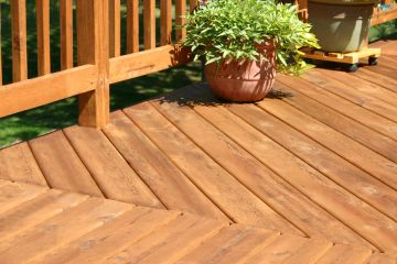 Deck building by Miller Remodeling and Painting